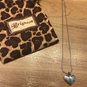 NWOT Brighton Silver and Gold Heart Necklace